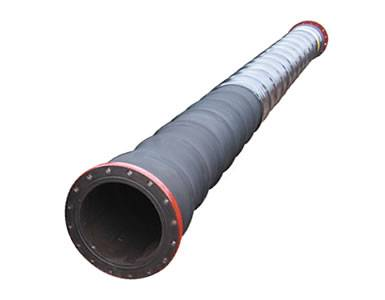 A port and dock construction hose with plastic film on it.